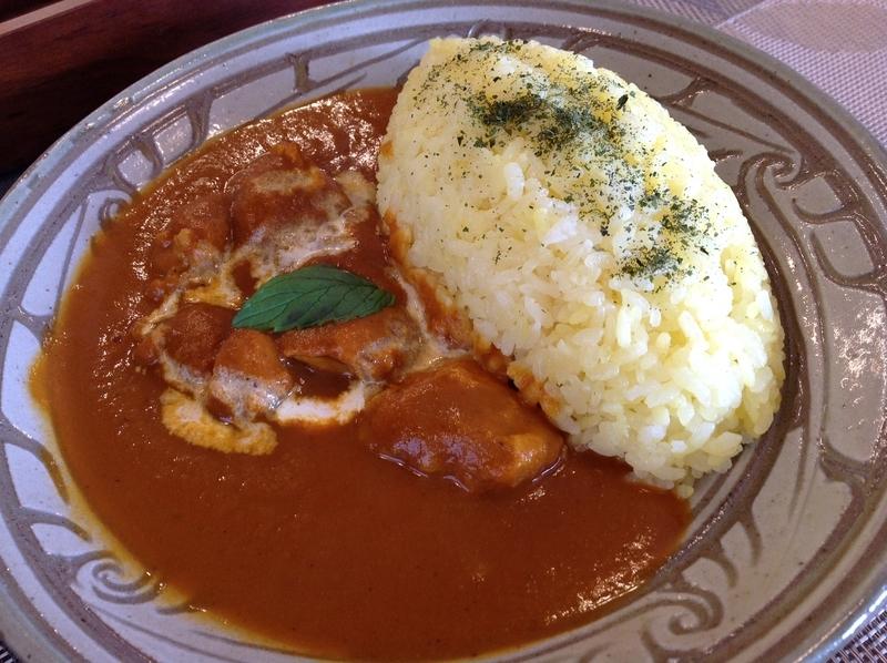 くじらブックス&Zou Cafe:バターチキンカレー