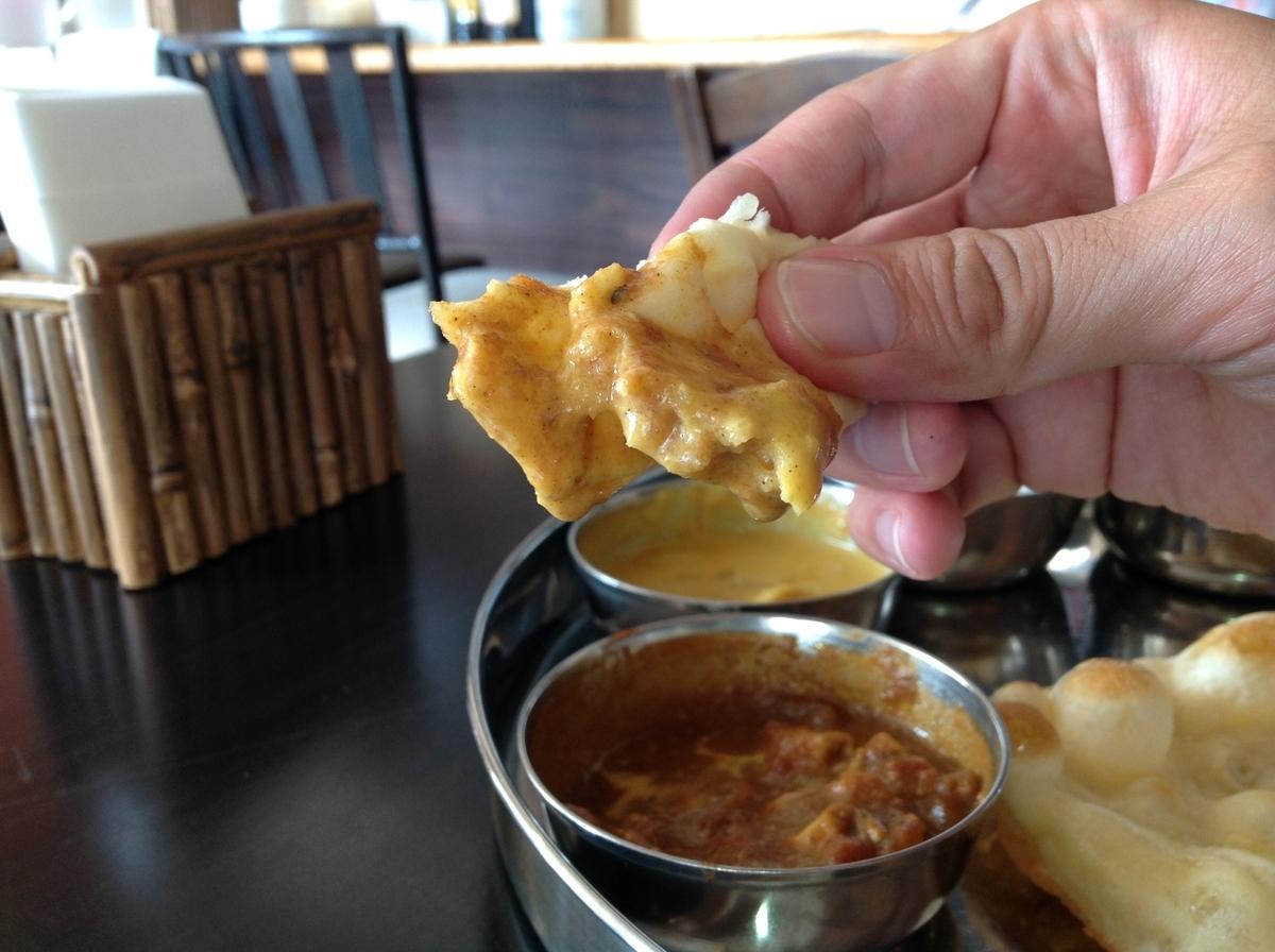 M's curry(エムズカリー):ナンでサンバルカレー