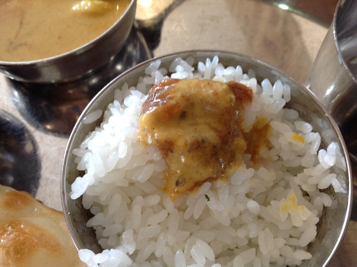M's curry(エムズカリー):ライスでカレー