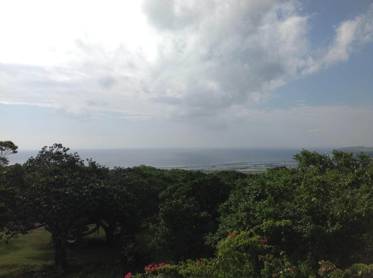 グスクロード公園:展望台からの海の眺め