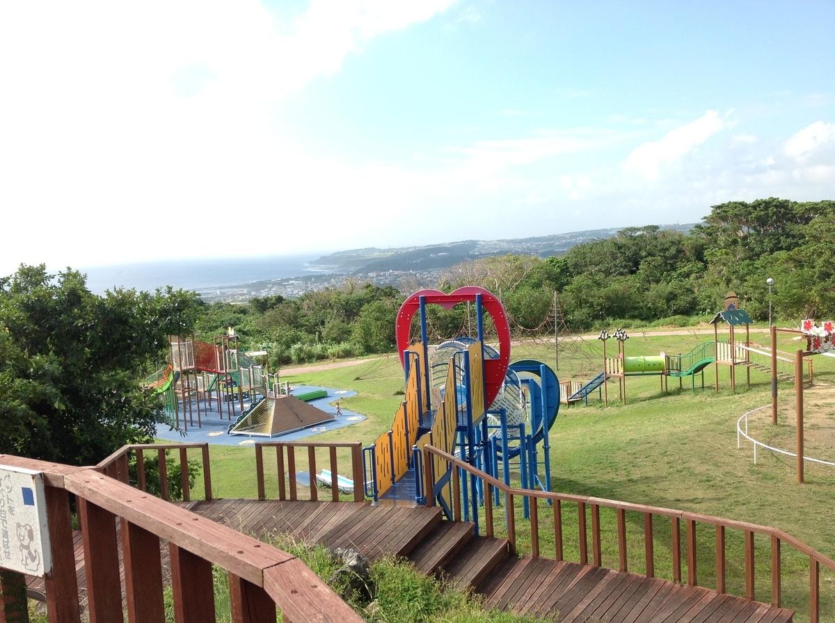グスクロード公園:展望台からの公園の眺め