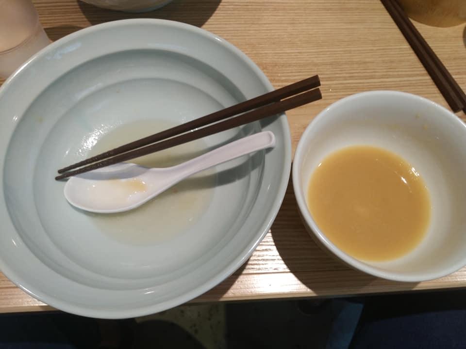 Noodle Dining 麺D(ヌードルダイニング メンディー):ゆず醤油つけめん 完食