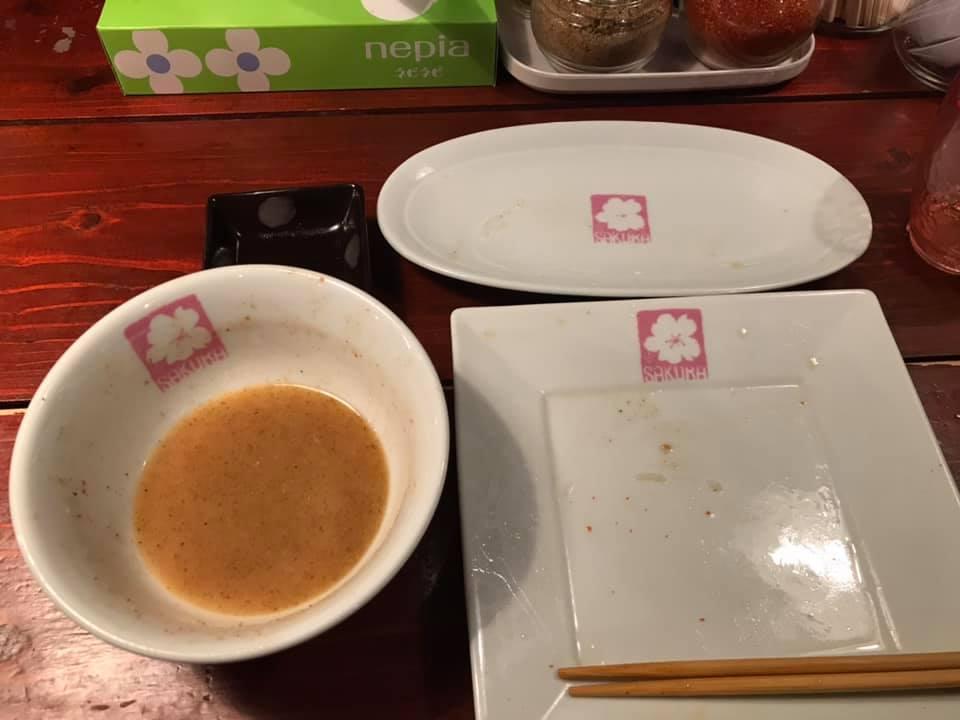 つけ麺SAKURA:ごちそうさまでした