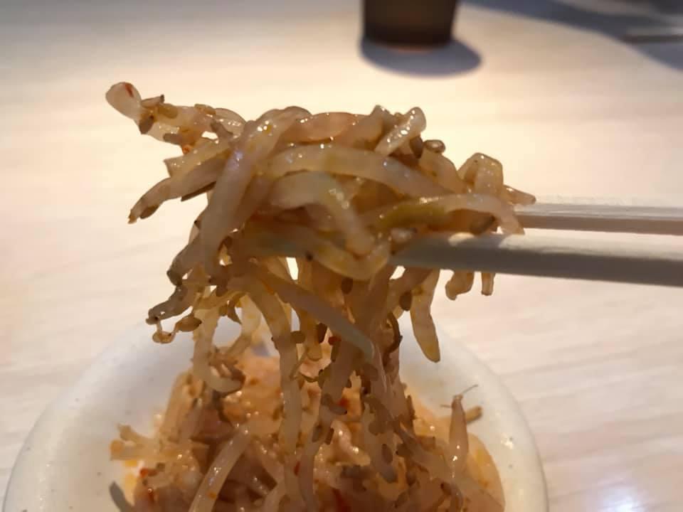 麺屋 武虎 与那原店:もやし実食