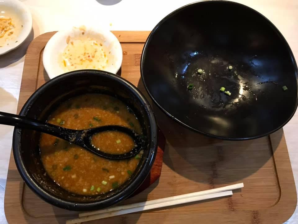 麺屋 武虎 与那原店:辛つけ麺完食