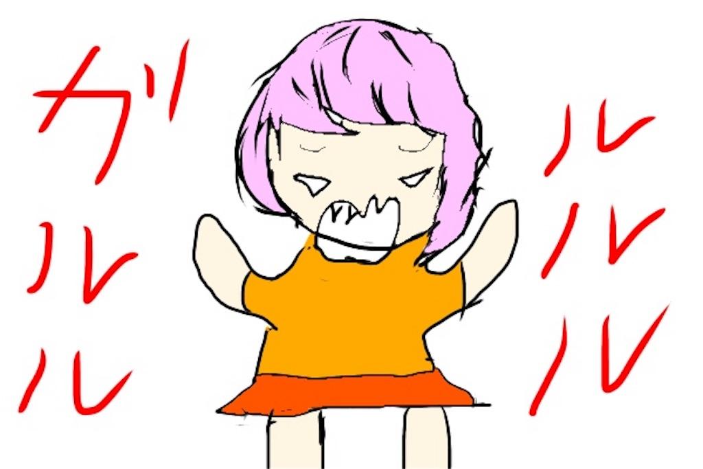 子供の怒り顔のイラスト
