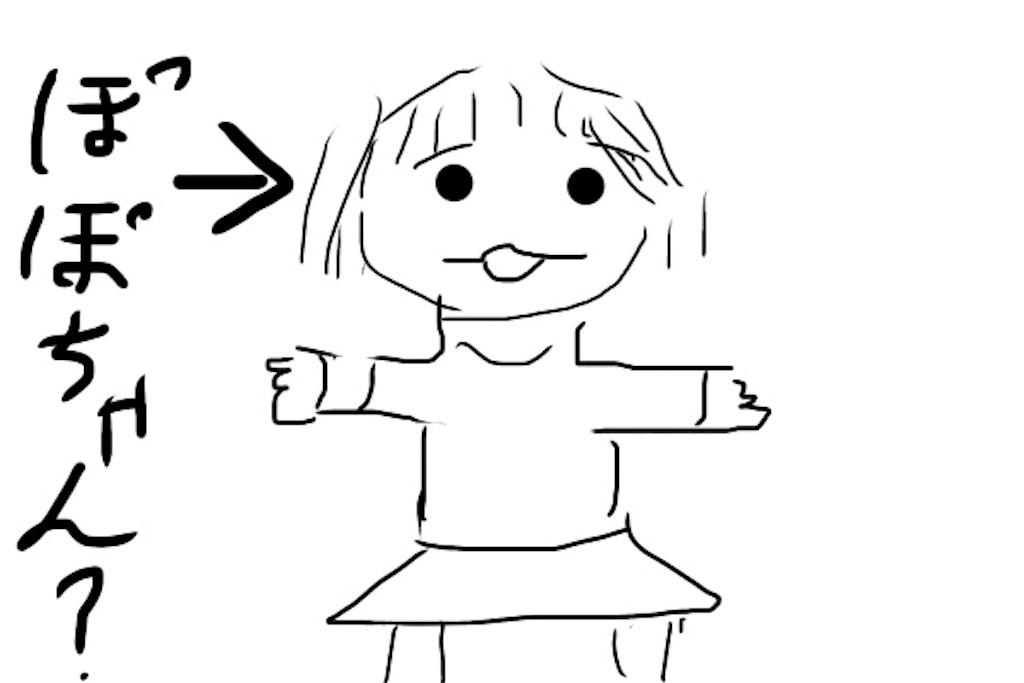雑なポポちゃん人形のイラスト
