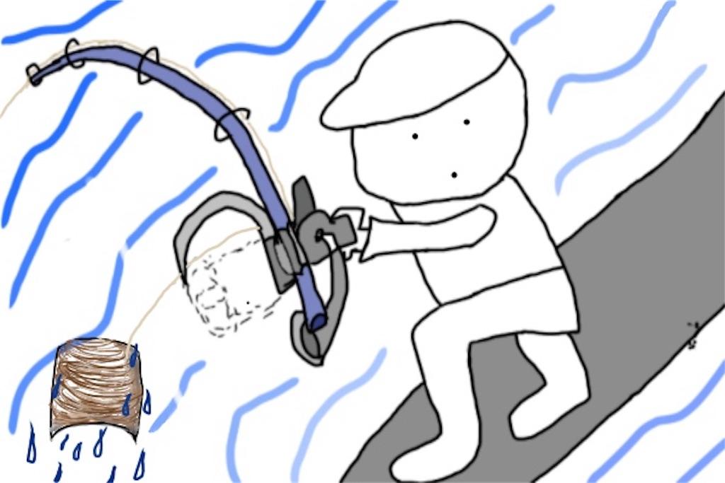 釣り、ドラグがないイラスト