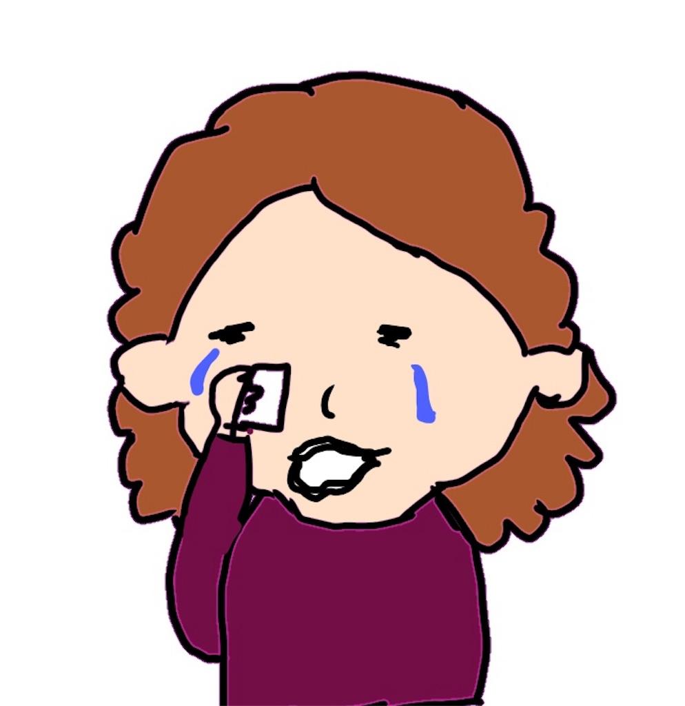 泣いている母親のイラスト