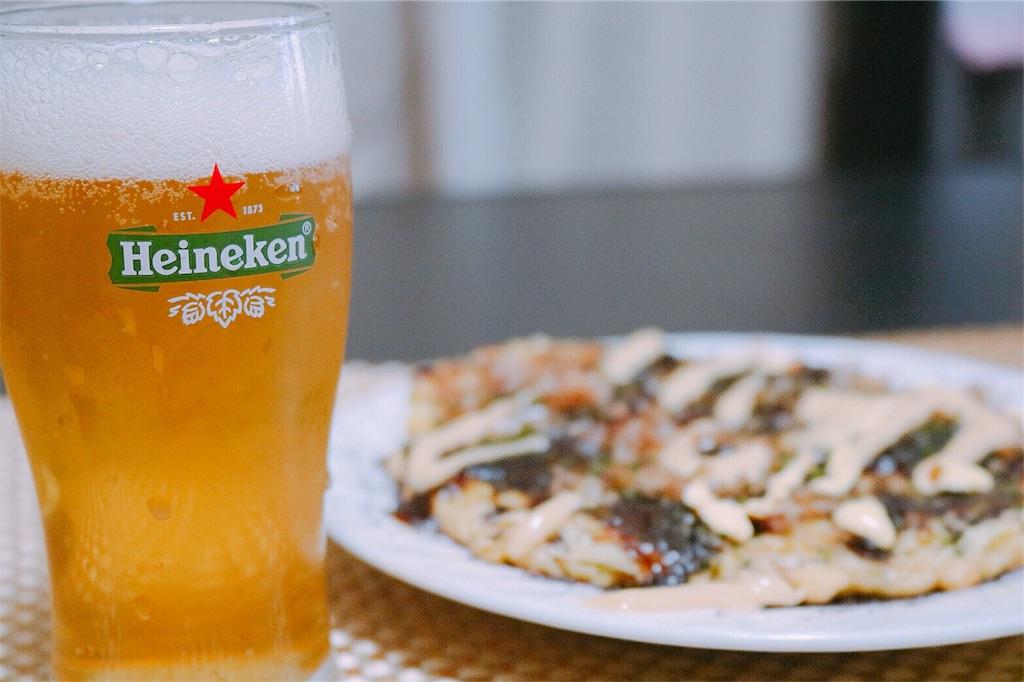 美味しそうな海鮮お好み焼き
