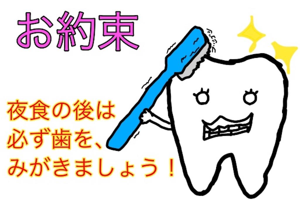 歯と歯ブラシのイラスト