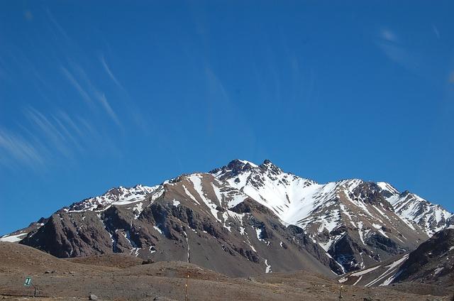 アルゼンチンのアンデス山脈