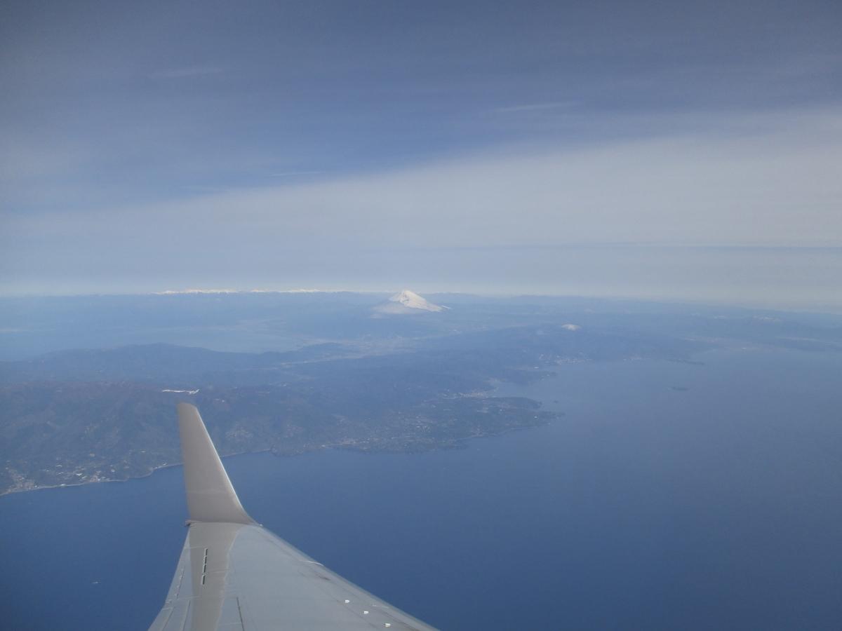 遠くに富士山が見えます。