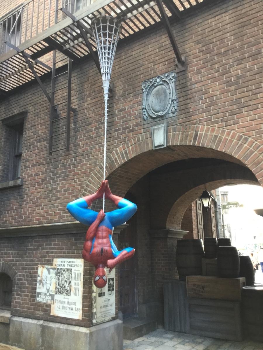 NYエリアのスパイダーマン