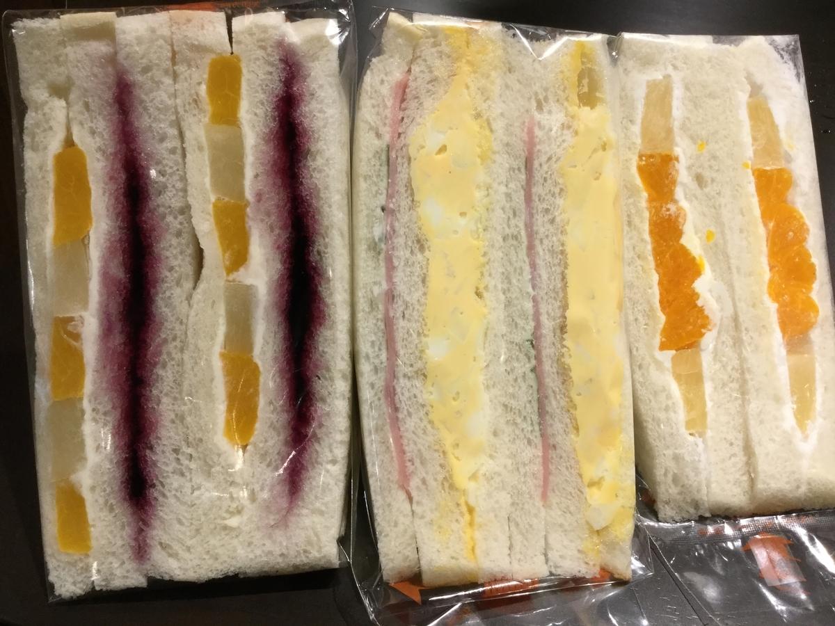 買ったサンドイッチ
