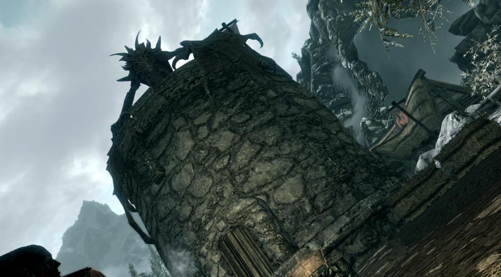 スカイリム ヘルゲン 最初のドラゴン発見!