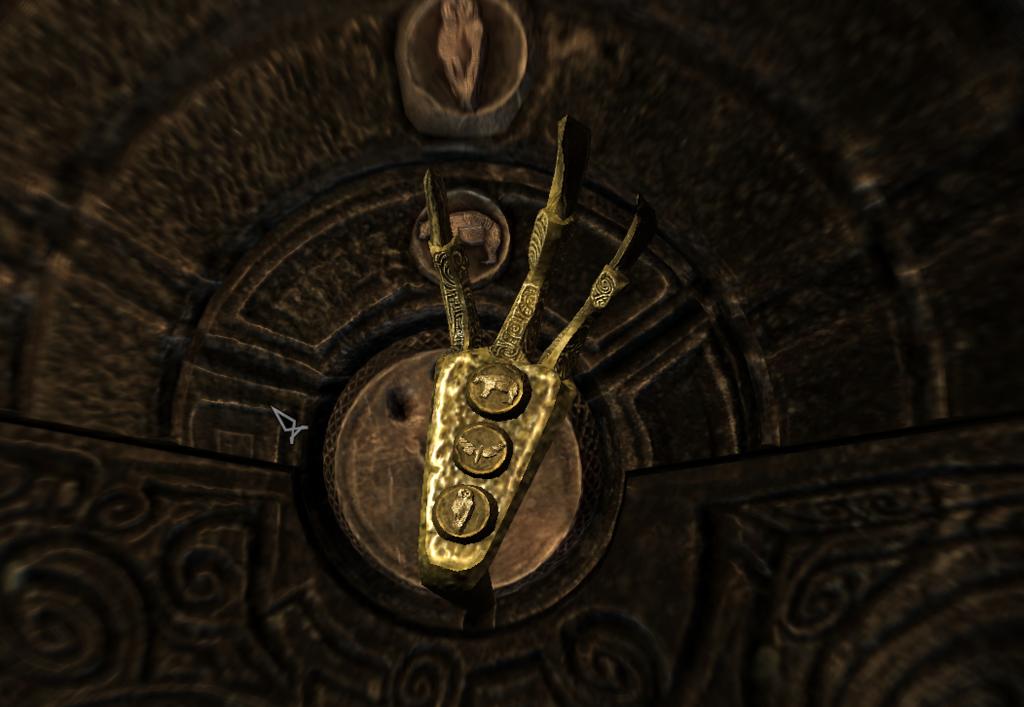 スカイリム ブリークフォール墓地の金の爪の扉の開け方