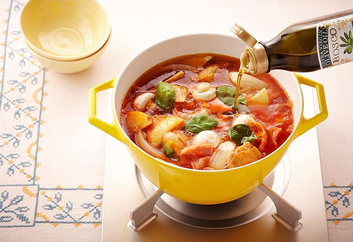 料理+オリーブオイル