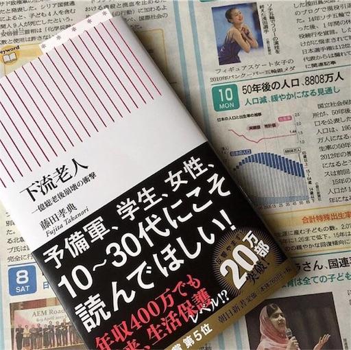 『下流老人』藤田孝典