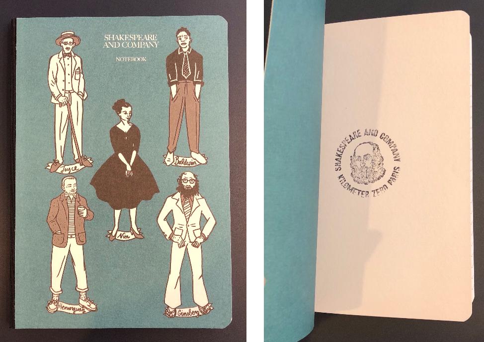 ブルーのオリジナルノートの画像