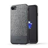 【iPhone 7専用設計】 Anker SlimShell Bright iPhone 7用 超軽量 ファブリック保護ケース (グレー)