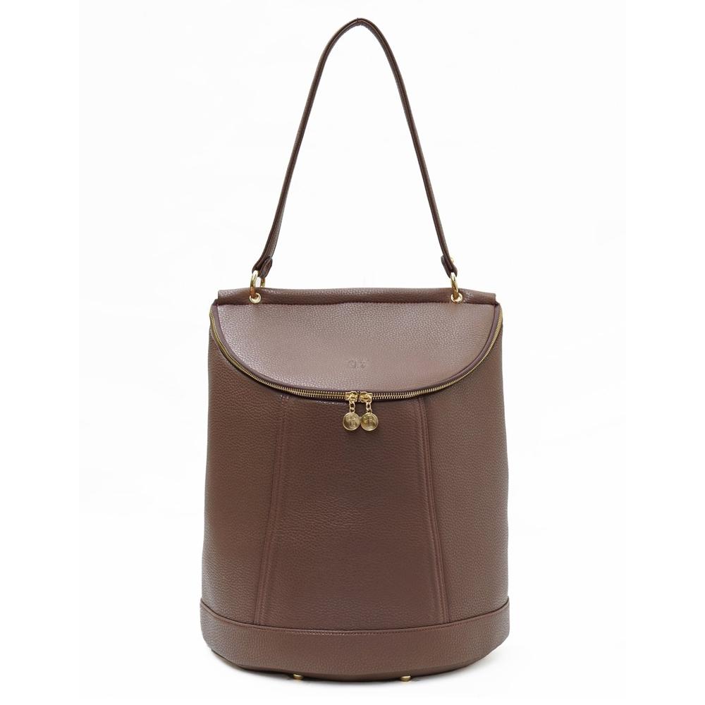 Demilune vegan leather rucksack