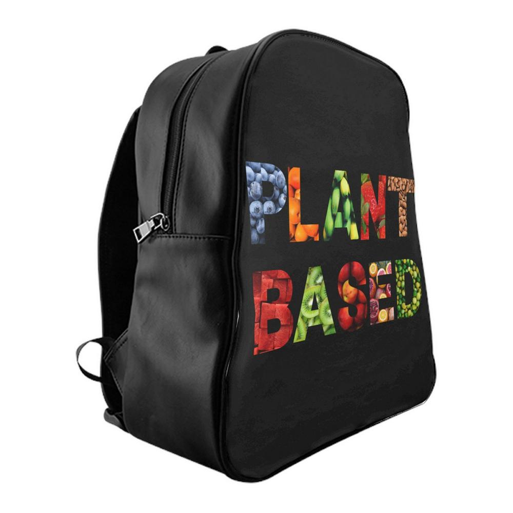 Black Vegan Unisex Backpack