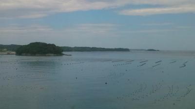 南三陸ホテル観洋の温泉からの眺望