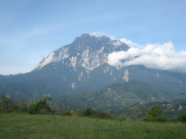 ナバル村からのキナバル山