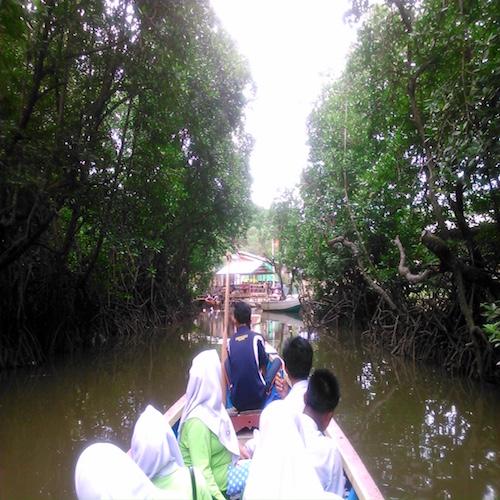 ペニンバワン村の桟橋