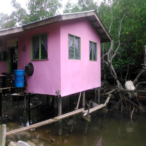 ペニンバワン村の派手な家