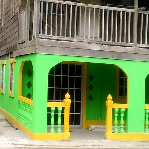 ペニンバワン村の緑色の家