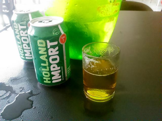 コタキナバルで飲むビール