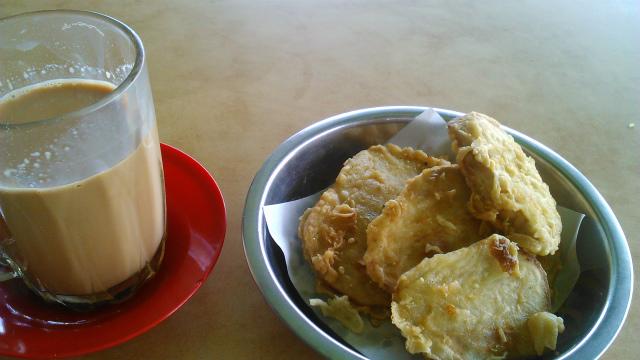 テタレとサツマイモの天ぷら