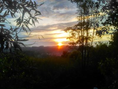 ジョギング後の綺麗な夕日