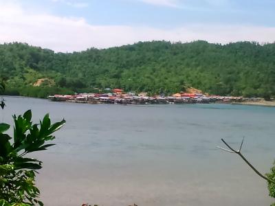 コタキナバル郊外の水上集落