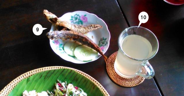 カダザンドゥスン料理の魚フライ