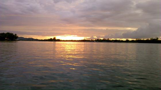 ボルネオ島コタキナバルの夕焼け