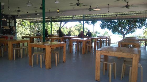 サバ州立大学のマリーナカフェ