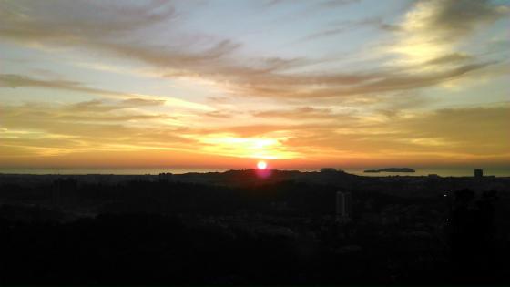 コタキナバルの綺麗な夕陽