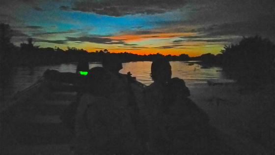 ガラマ川の夕焼け