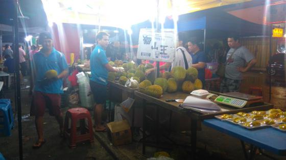 コタキナバルのドリアンマーケット