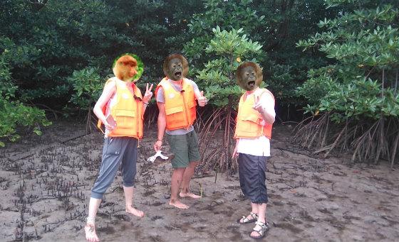 マングローブの植林体験とカヤック