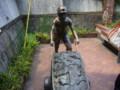 炭鉱で働く人の像(だと思う)