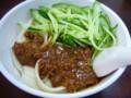 ジャージャー麺。日本円でおよそ165円くらい。独特の太麺が良い。