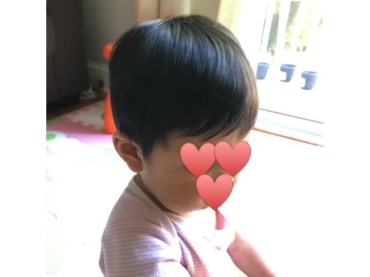 素人による赤ちゃんのヘアカット。仕上がりには満足。