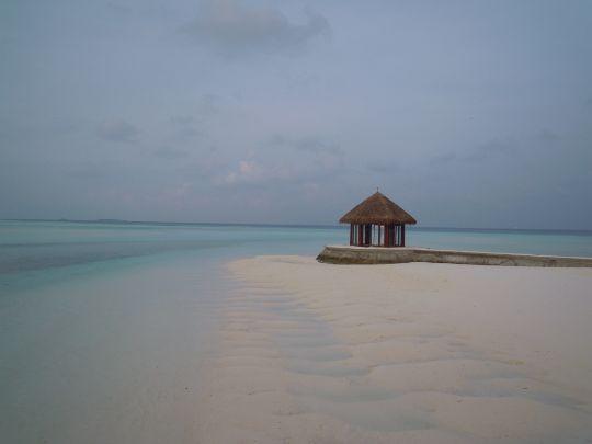 砂浜の休憩ポイントの写真