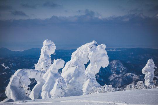 雪解けの景色
