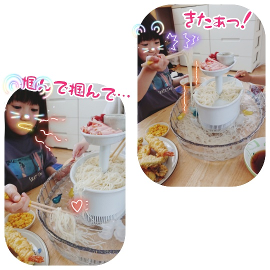 よく食べる娘の写真