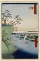 歌川広重「鴻の台とね川風景」(鴻の台=国府台、とね川=江戸川)